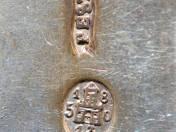 Pesti antik ezüst teáskanál 1 db