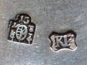 Kassai antik ezüst teáskanál 2 db