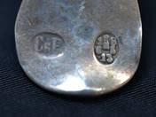 Pesti antik ezüst teáskanál 11 db