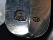 Bécsi antik ezüst villa 12 db