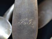 Pesti antik ezüst villa 5 db
