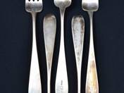 Antique Silver Fork from Pest (5 pieces)