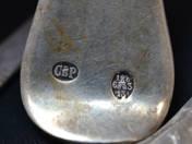 Antik ezüst leveseskanál 6db