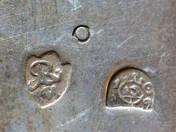 Pozsonyi antik ezüst kanál 3 db