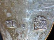 Antik ezüst kanál 3 db