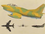 5 db repülőgép ismertető tábla repülőgépekről