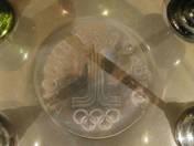 Moszkvai olimpiára készített rövidital kínáló szett