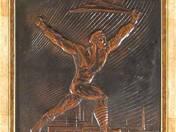 Weisz Manfréd művek - Tanácsköztársaság szobor plakett