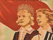 Szovjet Lettország filmplakát (1950)