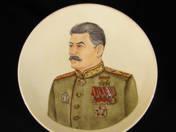 Dísztányér - Sztálin portré