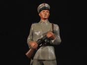 Rendőr dobtáras géppuskával