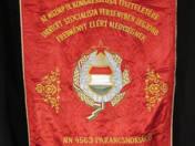 MSZMP IX. Kongresszus MN 4563 Parancsnokság és Pártbizottság zászló
