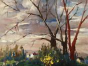 Tájkép fákkal