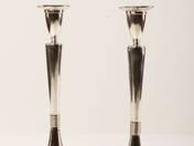 Empire antik ezüst gyertyatartó pár