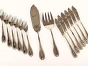 6 személyes ezüst halaskészlet