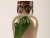 Szecessziós üveg váza