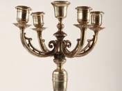 Bécsi ezüst kandelláber