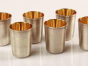 Orosz ezüst rövidital pohár 6 db