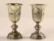 Orosz ezüst rövidital pohár pár