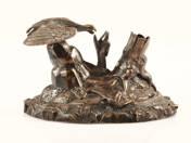 Asztali dísz, antik ezüst tolltartó