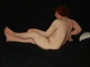 Női akt korallal (vázlat, 1914)