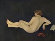 Ferenczy Károly: Női akt Korállal (vázlat, 1914)