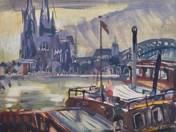 Kikötő a Rajnán (Köln) (1965)