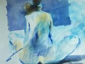 Ülő hátakt (kék)