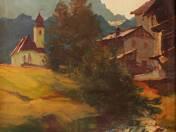 Alpesi táj patakkal