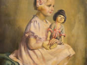 Little Girl with Oriental Doll