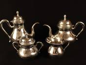 Pest Silver Coffee and Tee Set (4 pcs)