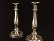 Bécsi antik ezüst gyertyatartó pár