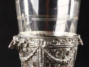 Ezüst jégtartó üvegbetéttel