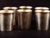 6 darabos pesti ezüst rövidital szett