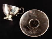 Aranyozott német ezüst kávéscsésze aljjal