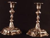 Német ezüst gyertyatartó párban