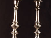 Pesti ezüst gyertyatartó pár