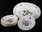 Herendi Rothschild-mintás tányérok 6 db