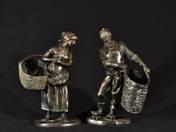 Holland halász szoborpár