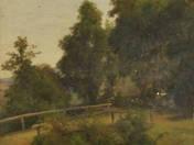 Tájkép híddal