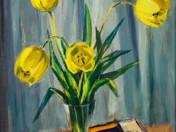 Tulipános csendélet