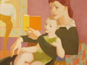 Anya gyermekével (Meseolvasás)