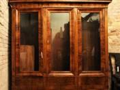 Biedermeier  3 ajtós könyvszekrény
