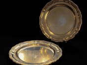 A pair of Vienesse silver plate