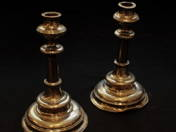 Bécsi ezüst gyertyatartó pár