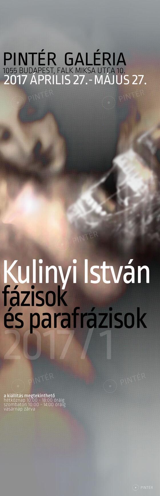 KULINYI ISTVÁN KIÁLLÍTÁSA ÁPRILIS 27-TŐL!