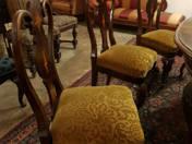 Kozma stílusú ebédlőasztal 8 székkel