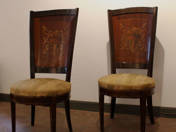 Eclectic pair of chairs
