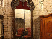 Baroque wall mirror with bracket