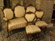 Sitting set in Louis Philippe style (7 pcs)